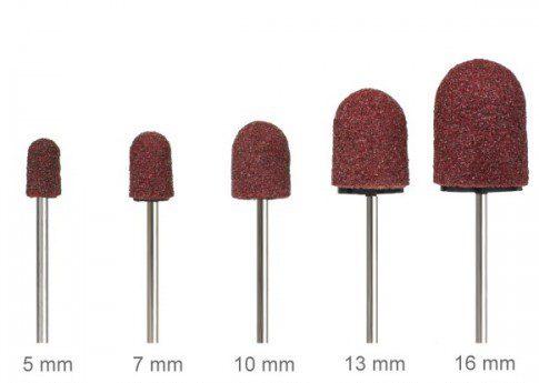 Kapturki ścierne do pedicure 16 mm #80 ( 10 szt )