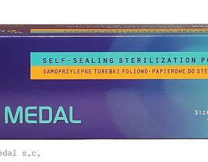 Samoprzylepne torebki foliowo-papierowe do sterylizacji 90mm x 230mm 200sztuk