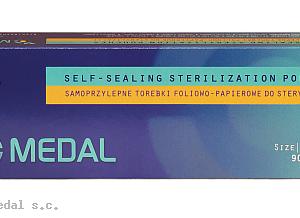 Samoprzylepne torebki do sterylizacji 90mm x 260mm 200 szt