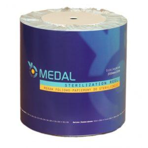 Rękaw do sterylizacji z fałdą MEDAL 20cm x 100m